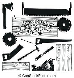 monochroom, woodworking, pictogram