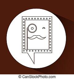 monocle, 情報通, シンボル, 口ひげ, アイコン