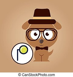 monocle, concept, vendange, style, hipster, doggy