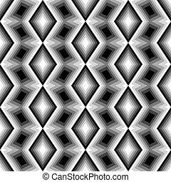 monocromático, diamante, desenho, seamless, padrão