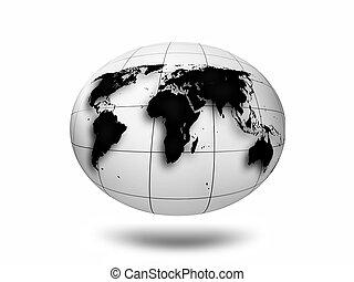 monocromático, mundo