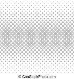 monocromático, padrão horizontal, círculo, seamless
