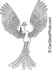 monocromático, phoenix