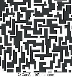 monocromático, tech, seamless, padrão