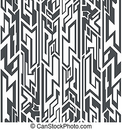 monocromático, tribal, seamless, padrão