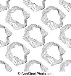 monocromático, vetorial, pattern., seamless
