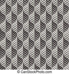 monocromático, vetorial, seamless, padrão