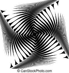 monocromatico, disegno, turbine, fondo, movimento
