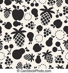 monocromatico, fruity, seamless, motivi dello sfondo