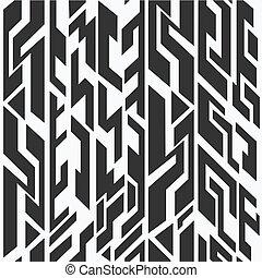 monocromo, antiguo, seamless, patrón