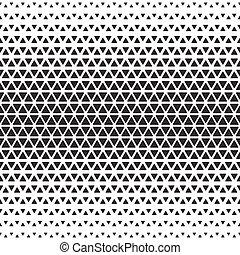 monocromo, geométrico, halftone, patrón