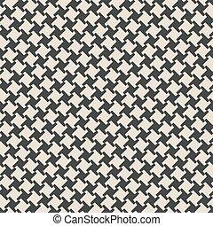 monocromo, geométrico, seamless, patrón