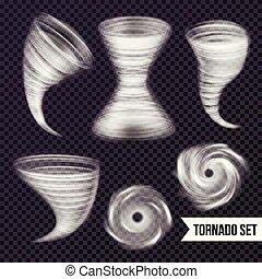 monocromo, tormenta, colección, realista