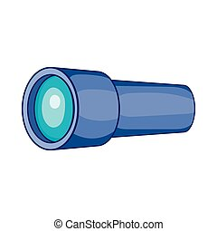 Monocular icon in cartoon style - icon in cartoon style on a...