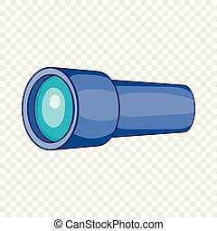 Monocular icon in cartoon style on a background for any web ...