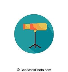 monocular optical accessory block style icon vector ...
