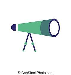 monocular optical accessory flat style vector illustration ...