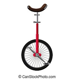 Monocycle icon, cartoon style - Monocycle icon. Cartoon...