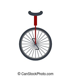 Monocycle isolated. Mono-bike For circus. vector...