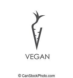 monogram, ニンジン, vegan, 形態