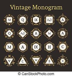 monogram, 型, セット
