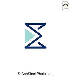 monogram, affaires e, isolé, élément, vecteur, logo, icône