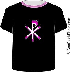 monogram, chris, camisa, template-, t