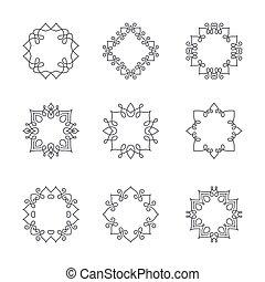 Monogram Collection - Collection of monochrome monogram...