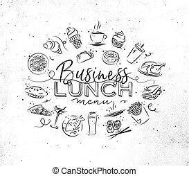 monogram, déjeuner, business