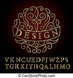 Monogram design elements, English letters. Elegant line art logo . Business sign, identity for Restaurant, Royalty, Boutique, Cafe, Hotel, Heraldic, Jewelry, Fashion, Wine. Vector illustration
