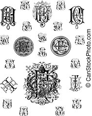 monogram - This image is a vector illustration and can be...