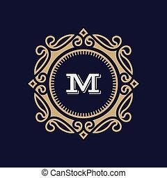 monogram, letra