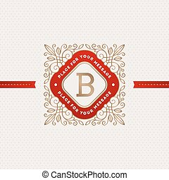 monogram, logo, schablone