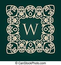 monogram, logos, verzierung, calligraphic, elegant, ...