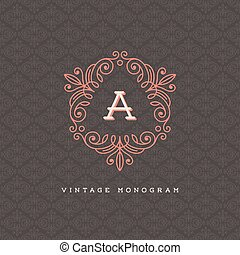 monogram, logotipo, sagoma
