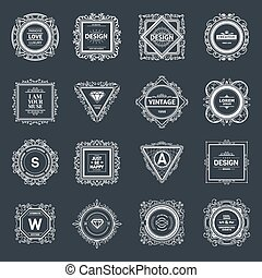 Monogram luxury logo template - Monogram luxury logo...