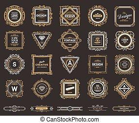Monogram luxury logo template with flourishes calligraphic...