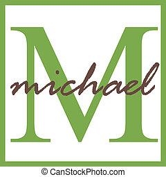 monogram, michael, naam