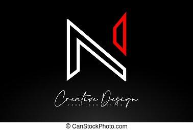 Monogram N Letter Logo design with Creative Lines Icon Design Vector.