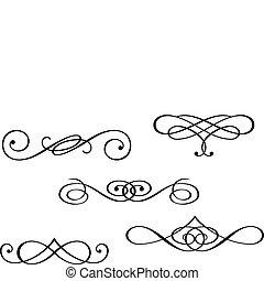monogram, och, virvla runt, elementara