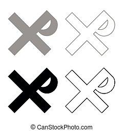 monogram, plano, rex, conjunto, justin, icono, imagen del color, cruz, ilustración, tzar, vector, zar, el suyo, negro, santo, señal, símbolo religioso, zar, estilo