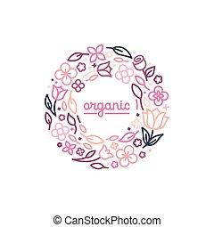 monogram, style, concept, linéaire, vecteur, conception,...