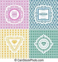 Monogram template - Monogram luxury logo template with...