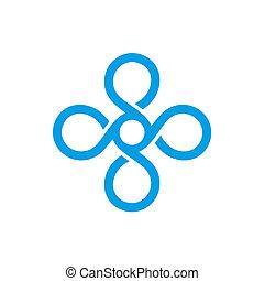 monogram, vendemmia, vettore, template., logotipo