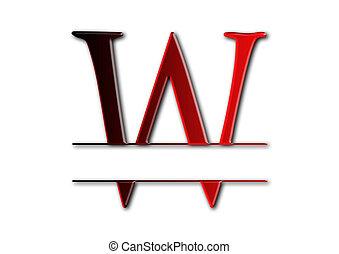 monogram, w, logo, brief, design