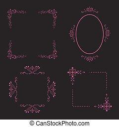 Monogrames frame vector