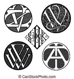 Monograms set. Vector