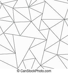 monokrom, triangel, seamless, mönster