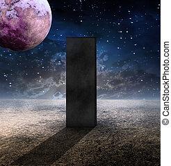 Monolith on Lifeless Planet
