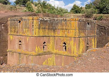 Monolithic church Saint George, Lalibela, Ethiopia, Africa